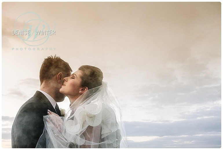 bride and grrom golden hour photograph outside the aviator hotel in farnborough