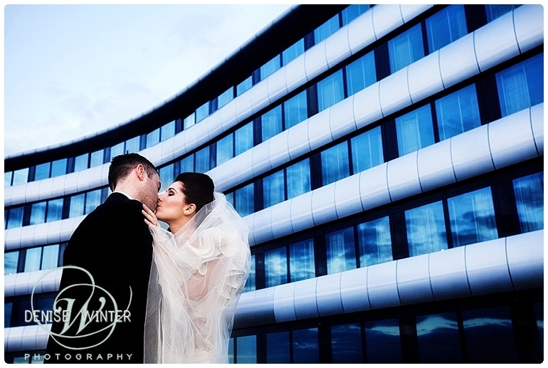 stylish wedding photograph from the aviator hotel in farnborough