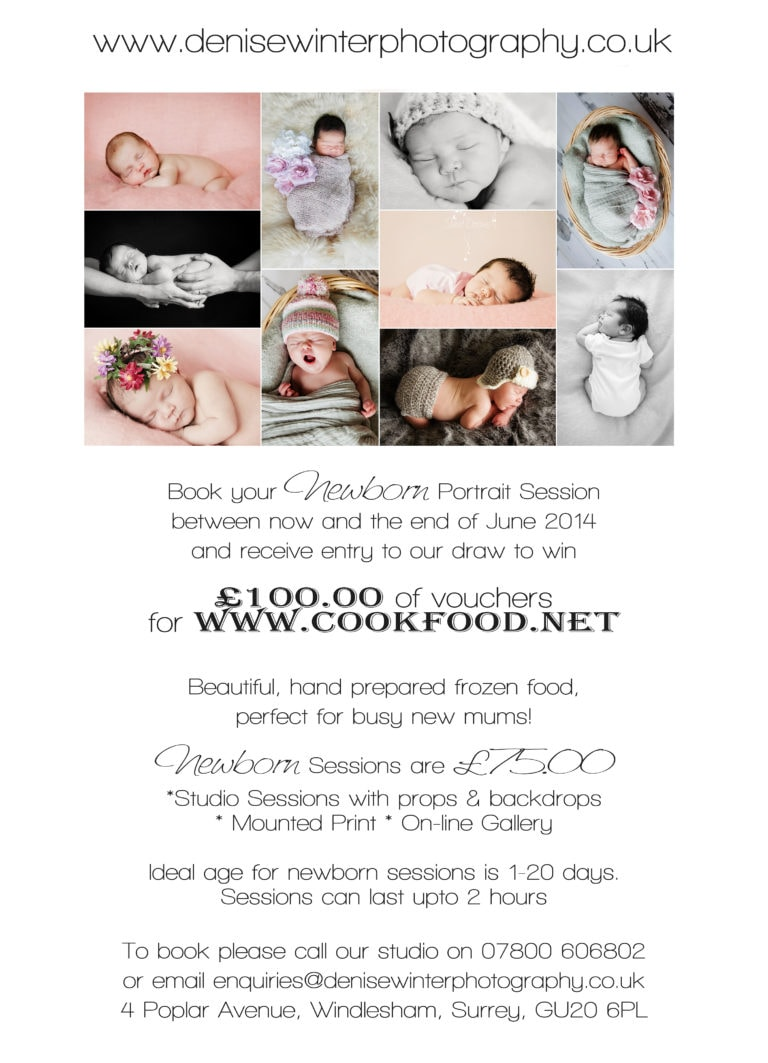 Newborn Portrait Photography & Cook Food