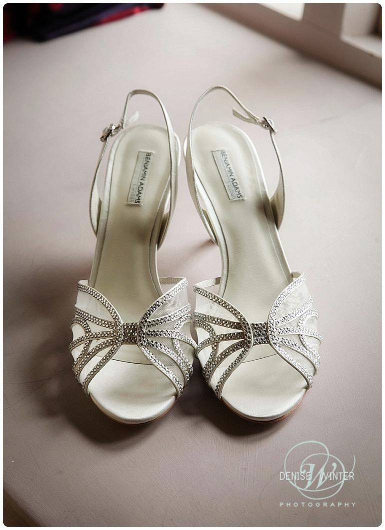 Benjamin Adams wedding shoes for bride