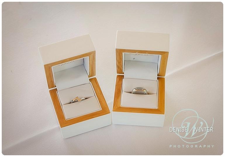 wedding rings on a wedding day