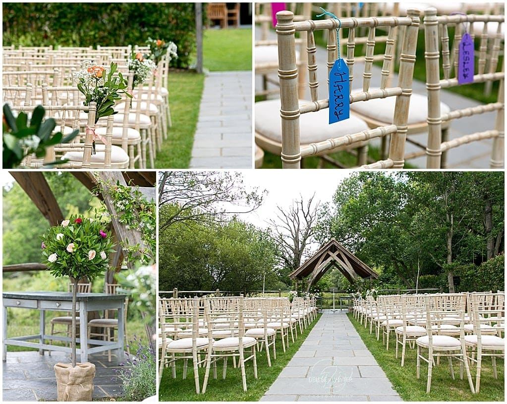 Millbridge Court prepared for an outdoor ceremony