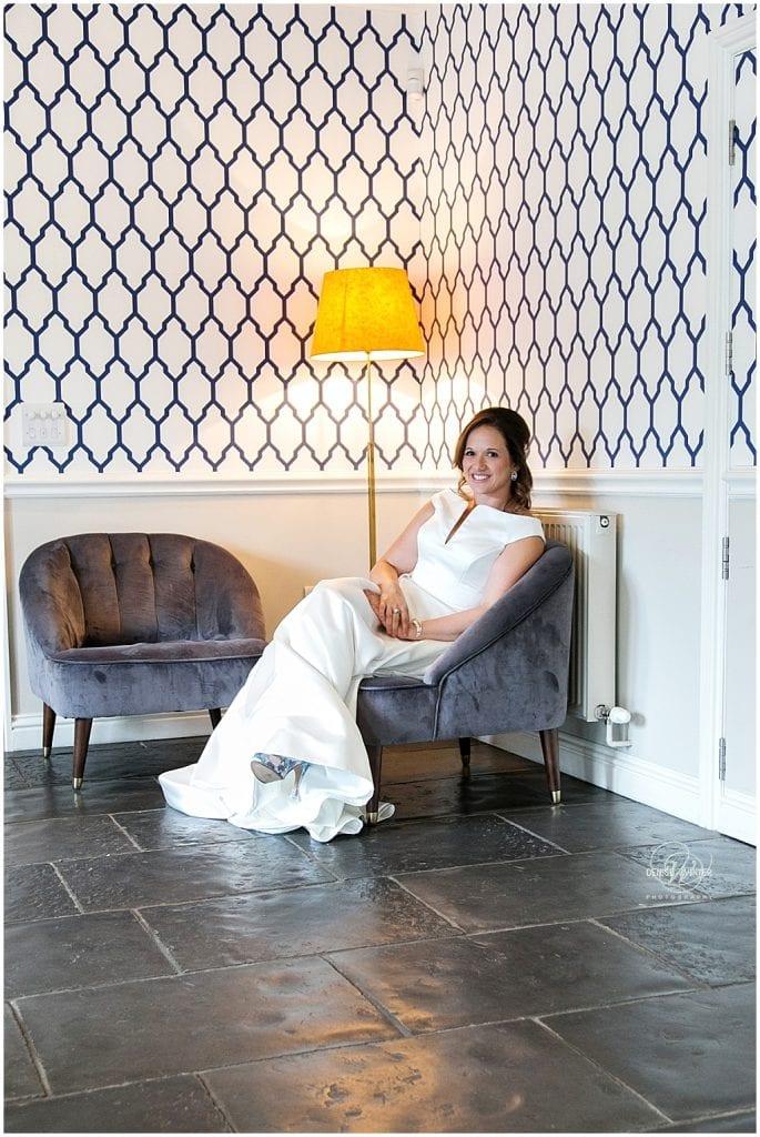 Bride photo in the reception at Millbridge Court