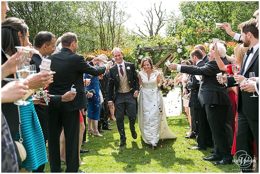 wedding confetti photograph at millbridge court