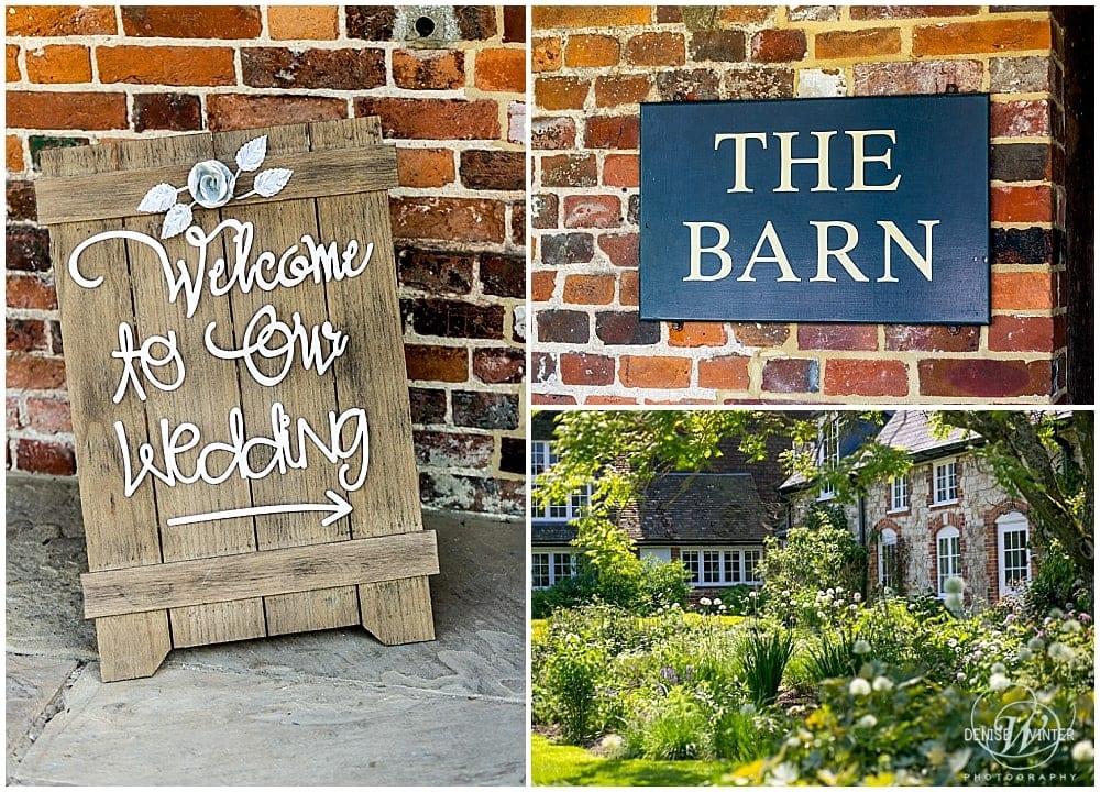 Wedding details at Bury Court Barn