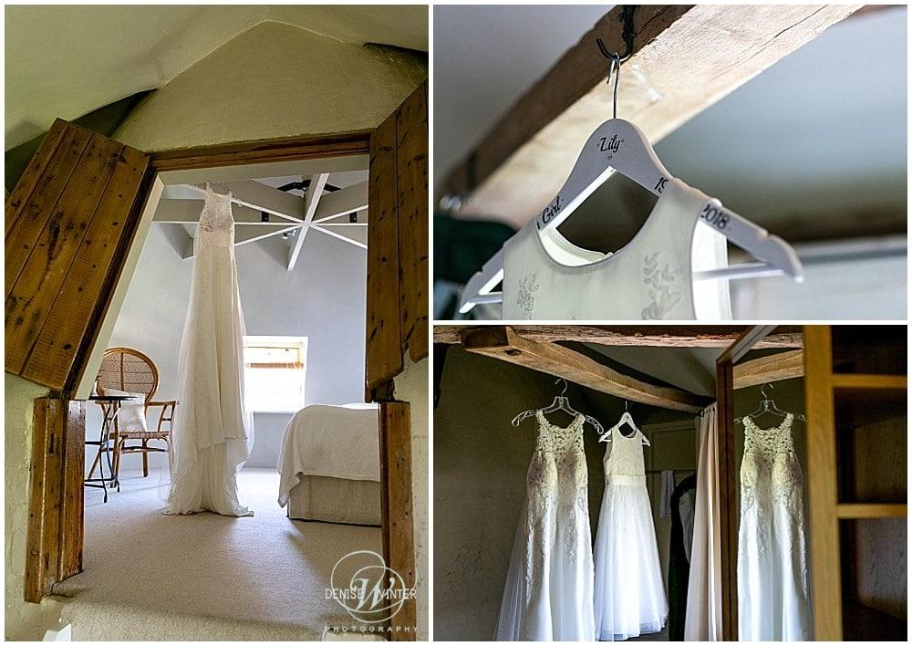 wedding dress at bury court barn