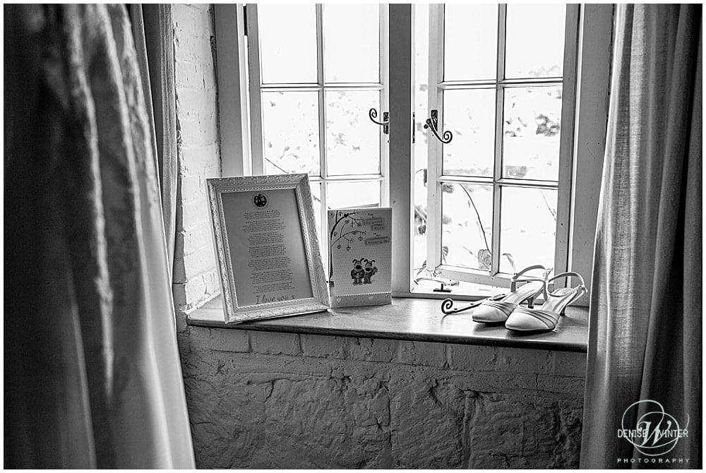 wedding shoes at bury court barn