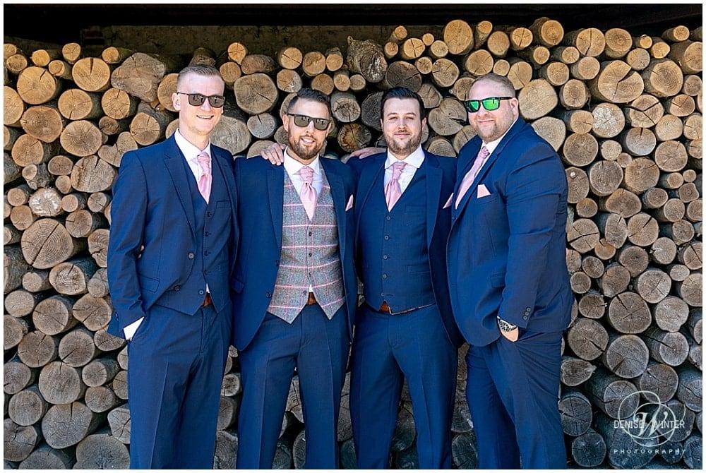 Grooms men at Bury Court Barn