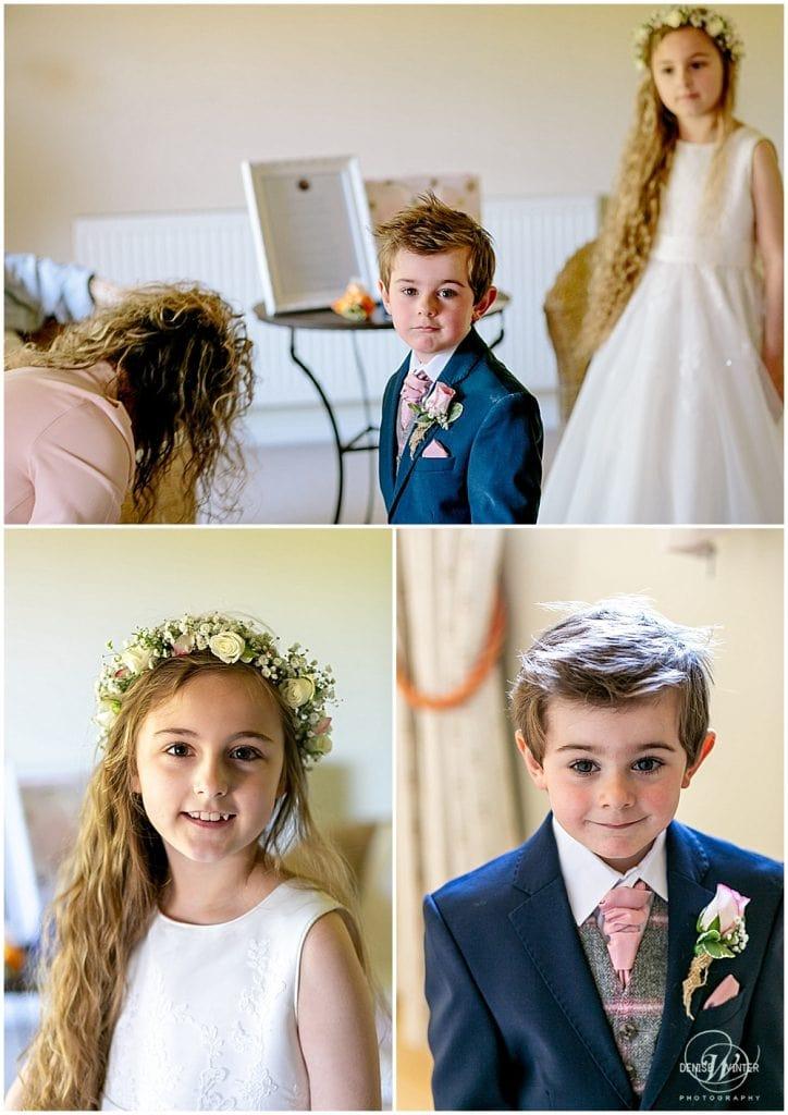 Cute page boy on a wedding day