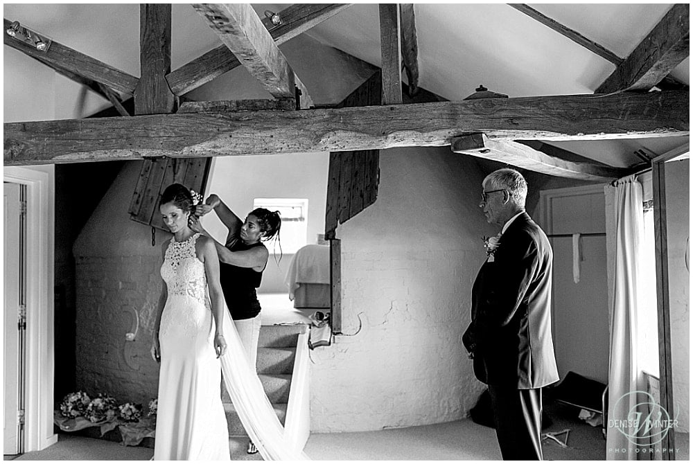 Father and his daughter on her wedding day