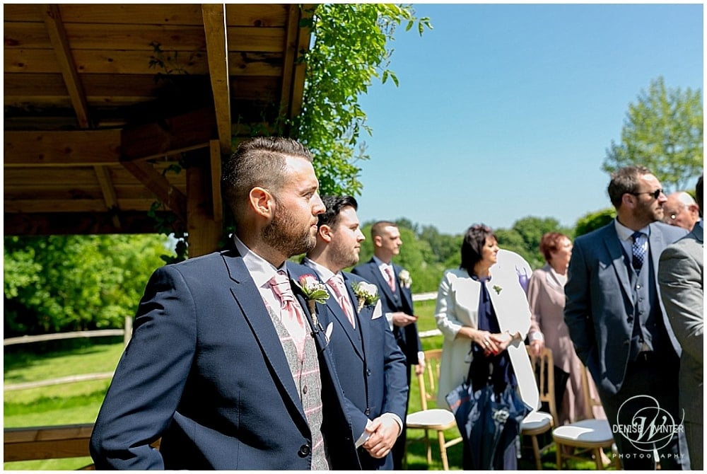 Groom at Bury Court Wedding