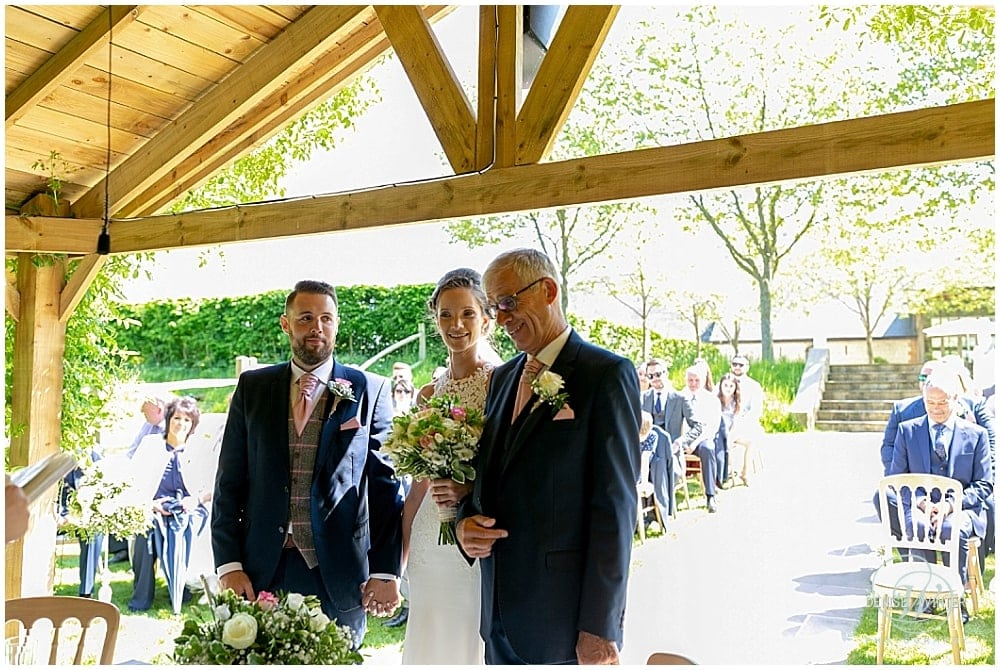 couple getting married at Bury Court Wedding